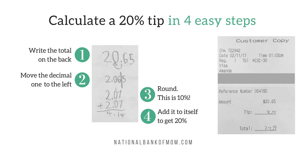 National Bank of Mom Calculate the Tip