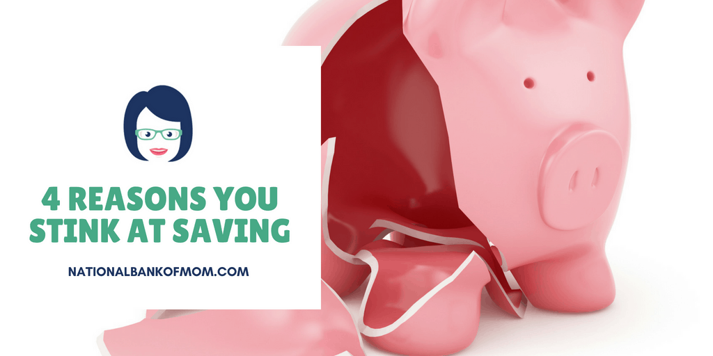 4 Reasons You Stink At Saving broken piggy bank