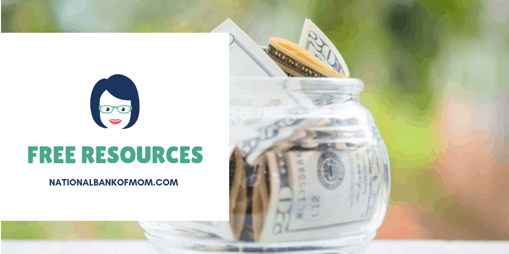 Free resources jar of money