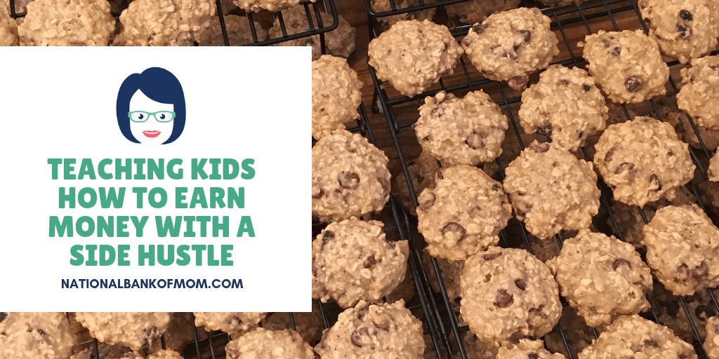 Teaching kids how to earn money with a side hustle - cookies